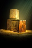 Three large Tea Boxes from Sumatra and India