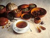 Cup of Black Tea & assorted Kinds of Tea