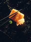 Salmon fillet with caviare and radish