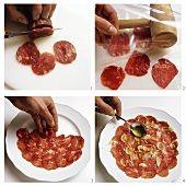 Preparing carpaccio