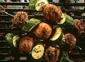 Skewered Meat Balls with Zucchini