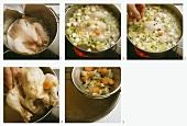 Preparing boiled chicken