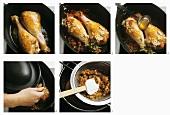 Preparing braised turkey leg