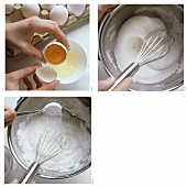 Beating egg white