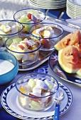Fruit with Honey Yogurt