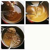 Making a sauce with butter, starch and sauce thickener