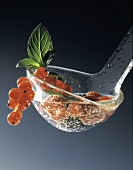Ladle Full of Summer Berries and Champagne