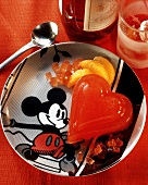 Heart-shaped Orange-Campari Jelly