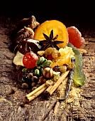 Candied orange peel; Spices; Nuts; Sugar; Candied lemon peel
