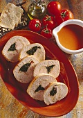 Rolled Turkey Roast with Spinach-Bacon Filling