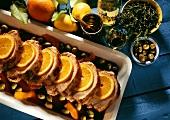 Roast Pork with Oranges & Olives