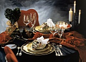 Valentine's Day Table Set for Two