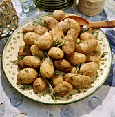 Rosemary potatoes from a clay pot