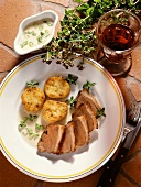 Goose Breast Slices with Horseradish Sauce