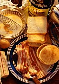 Ingredients for an American Breakfast