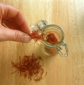 Saffron Threads; Storage in Jar