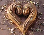 Meringue Heart Cookie with Sprinkles