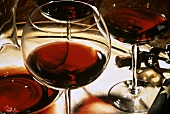 Red Wine with Decanter and Glasses