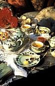 Tea Scene with Small Pastries