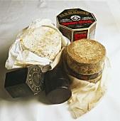 Drei Käsesorten aus Großbritannien