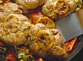Ossobuco alla milanese (braised shin of veal, Italy)