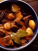 Stifado; Greek Stew a Pan