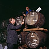 Checking whisky maturity in Glenfarclas Distillery, Scotland
