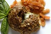 Mozzarella-stuffed Meatball