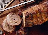Skewered Rolled Roast Pork