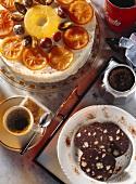 Cassata alla siciliana & Tronco di bosco (chocolate tree cake)
