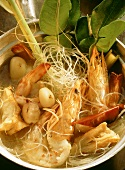 Chinese Noodles with Shrimp and Lobster