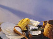 Assorted Asian Noodles with rice and Rice Paper