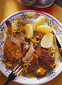Roast Duck with Orange and Olive Sauce (Pato a la Sevillana)