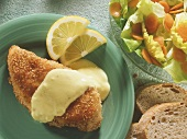 Chicken Breast with Sesame Bread Crumb Coating