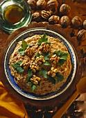 Chicken, Circassian style (chicken with walnut paste)