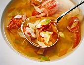 Pot-au-feu with Lobster, Leeks, Celery and Carrots