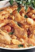 Chicken ragout with mushrooms