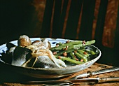 Maatjes herring with green beans, bacon & boiled potatoes