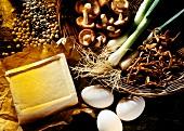 Zutaten für Gemüse-,Tofu-&Eiergerichte:Soja,- Mungobohnen u.a