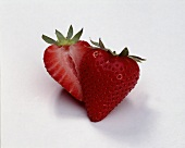 One Strawberry Sliced in Half