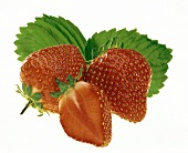 Two Whole Strawberries and Half of a Strawberry