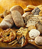 Basket bread, brown bread, baguette, raisin bread etc