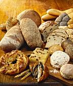 Basket bread, brown bread, baguette, raisin bread etc