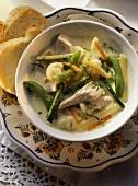 Waterzooi mit Poularde (Flemish chicken stew)