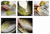 Cooking fish in the oven