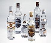 Assorted Bottles of Vodka