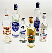 Still Life of Assorted Bottles of Vodka