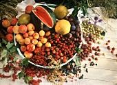 Buntes Obst- & Früchtestilleben
