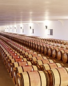 Barriques from Chateau Mouton-Rothschild in Pauillac, Bordeaux