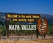 A Napa Valley Welcome Sign
